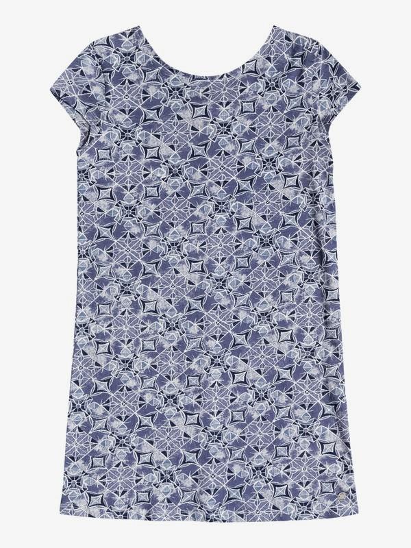 0 Girl's 7-14 Golden Lids Short Sleeve Dress Blue ERGKD03050 Roxy