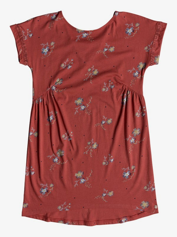 0 Girl's 7-14 Dripping Rose Short Sleeve Dress Pink ERGKD03066 Roxy