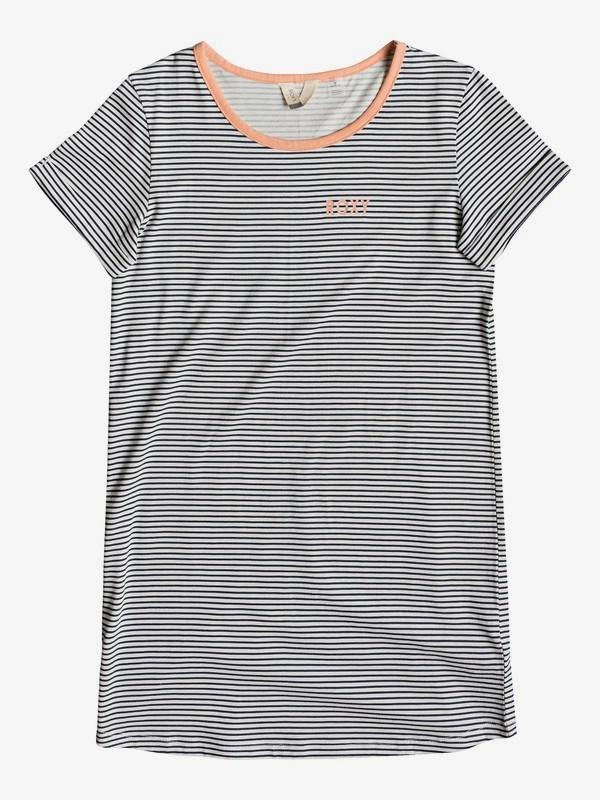 0 Girl's 7-14 Color Sky A Short Sleeve T-Shirt Dress Blue ERGKD03086 Roxy
