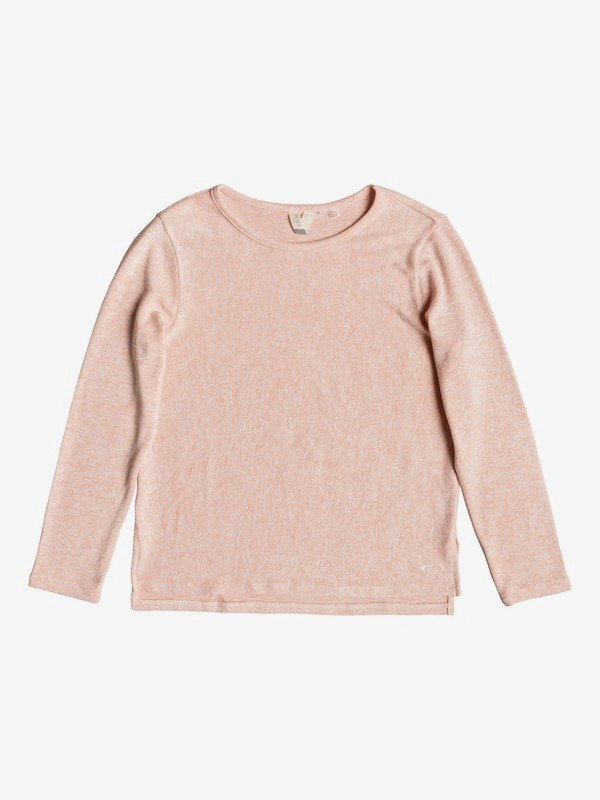0 Girl's 7-14 Cosy Day Long Sleeve Top Pink ERGKT03110 Roxy