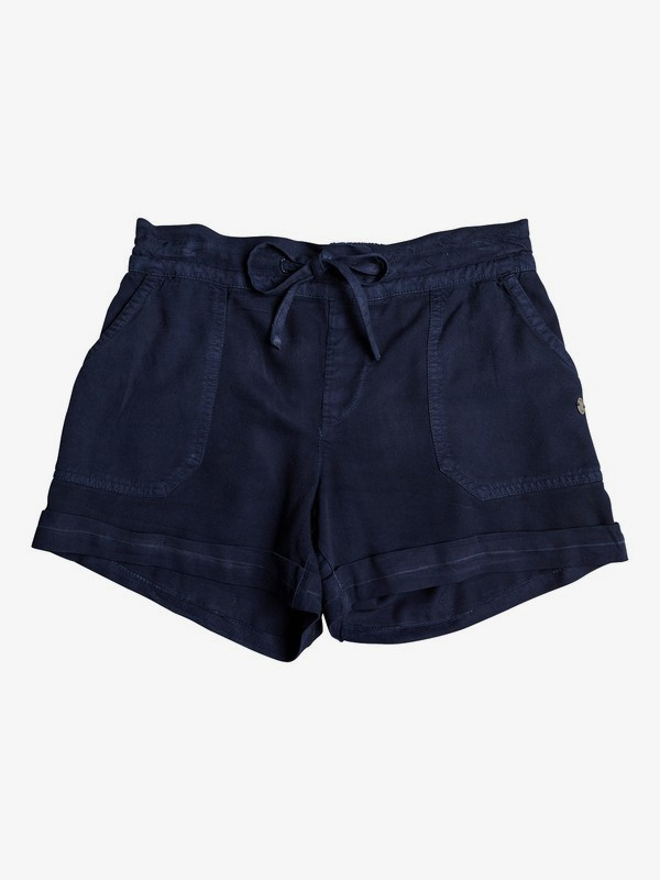 0 Girl's 7-14 Goldy Rain Cuff Shorts Blue ERGNS03037 Roxy