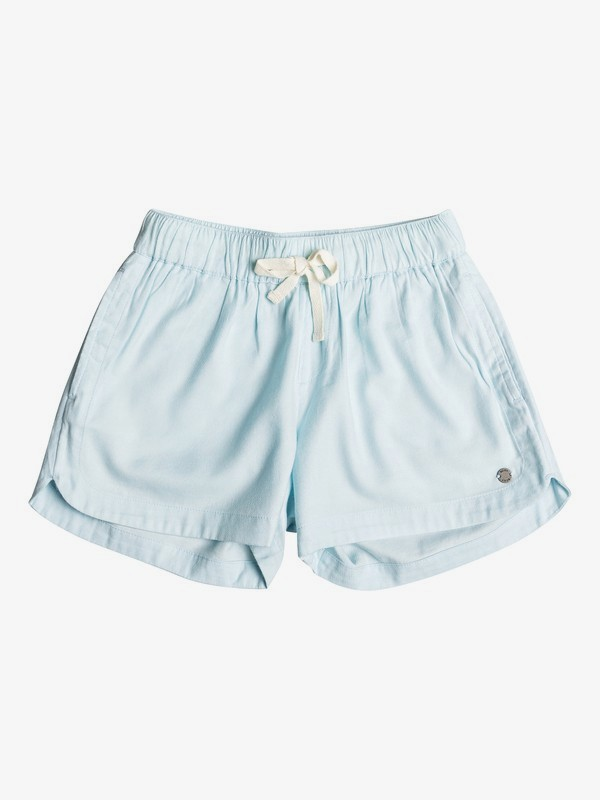0 Girl's 7-14 Una Mattina Beach Shorts Blue ERGNS03045 Roxy