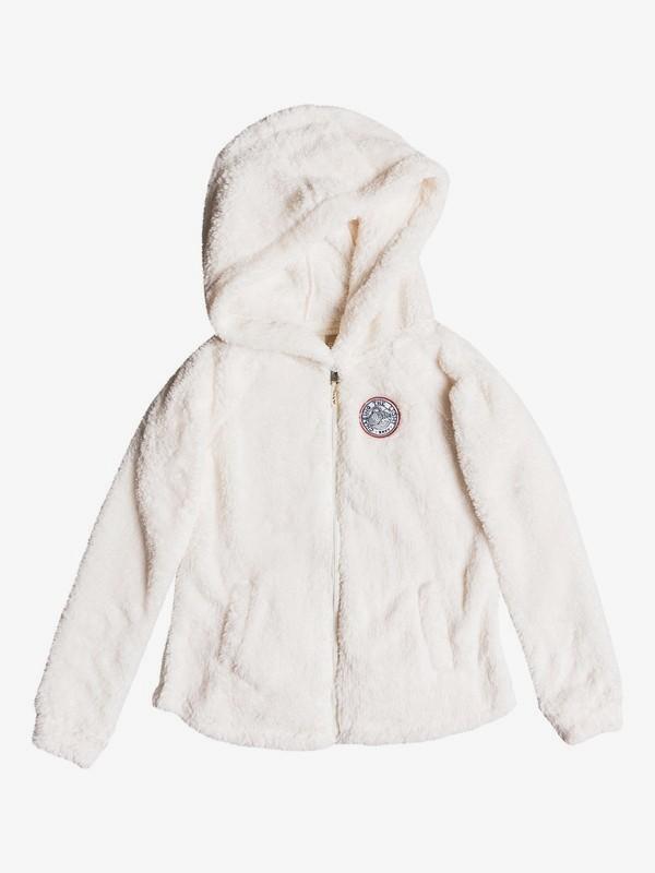 0 Elastic Heart - Sweat à capuche zippé en sherpa pour Fille 8-16 ans Blanc ERGPF03014 Roxy
