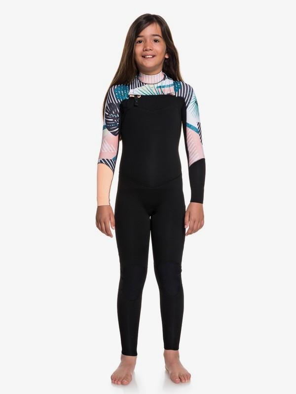 0 3/2mm POP Surf - Combinaison de surf zip poitrine pour Fille 8-16 ans Noir ERGW103029 Roxy