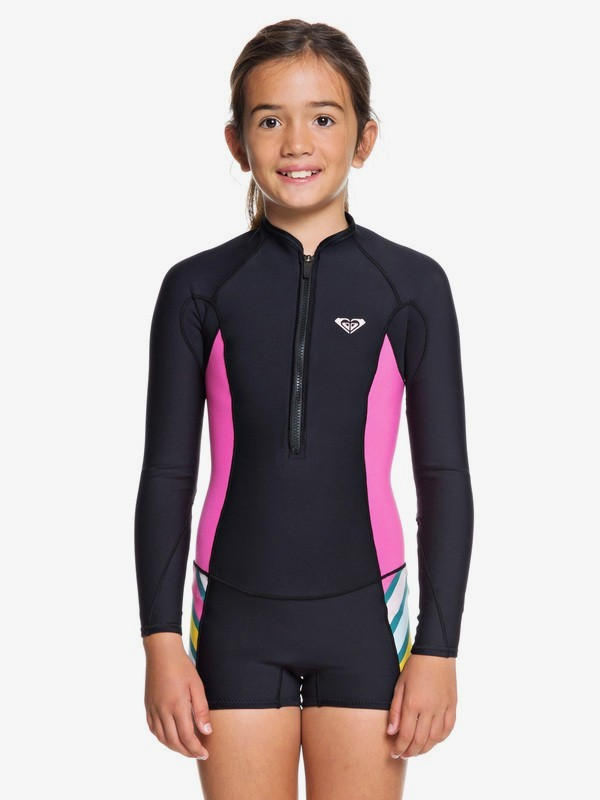 1.5mm POP Surf - Long Sleeve Front Zip Shorty for Girls 8-16  ERGW403006