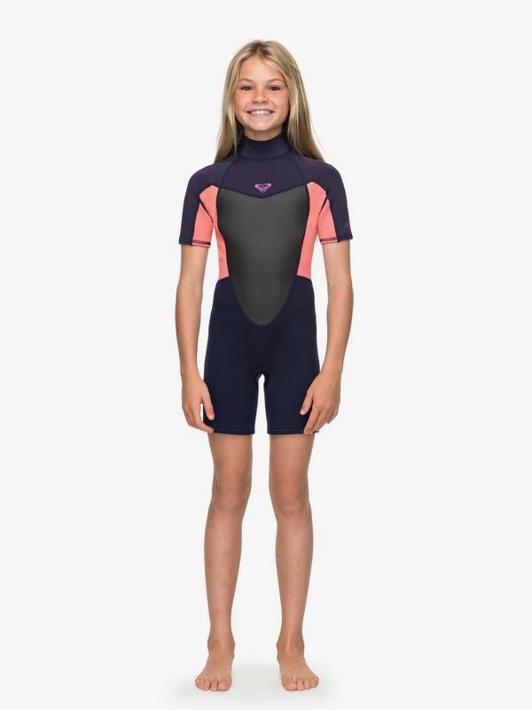 2/2mm Prologue - Back Zip Short Sleeve Springsuit for Girls 4-16  ERGW503008