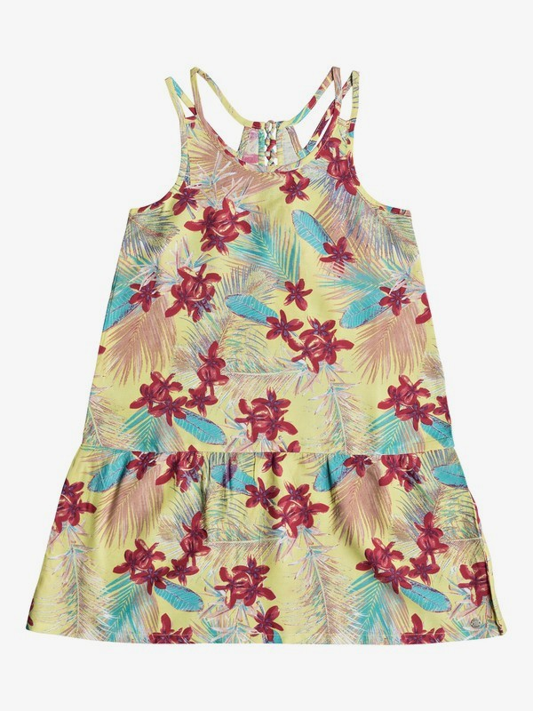 0 Girl's 7-14 Moments Of Time Strappy Dress Yellow ERGWD03041 Roxy