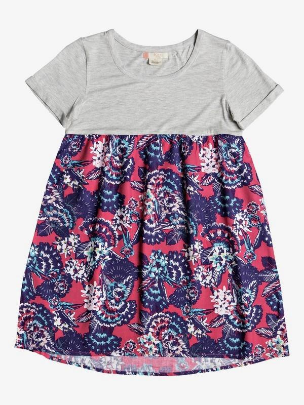 0 Branche Of Lilac - Vestido Camiseta para Chicas 8-16 Rosa ERGWD03043 Roxy