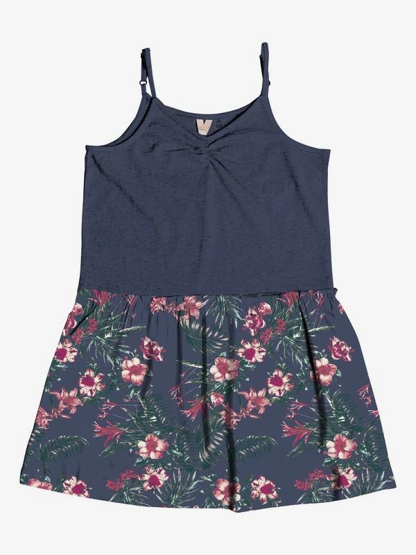 0 Girl's 7-14 Greatest Wish Strappy Dress Blue ERGWD03050 Roxy