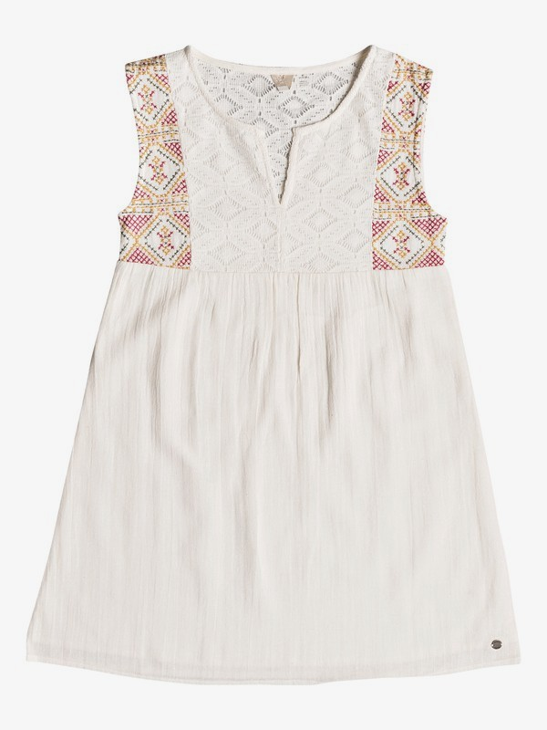 0 Girl's 7-14 Second Thought Tank Dress White ERGWD03055 Roxy