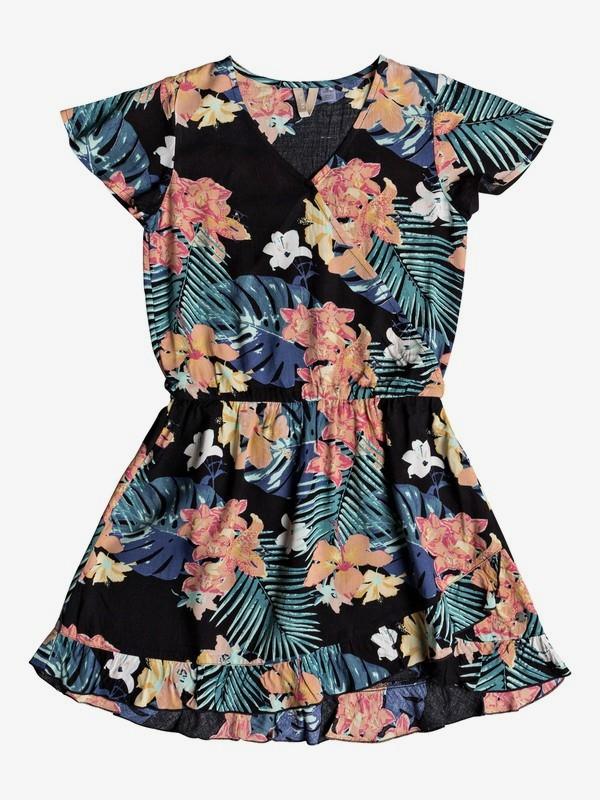 0 Girl's 7-14 Her Fantasy Short Sleeve Dress Black ERGWD03064 Roxy