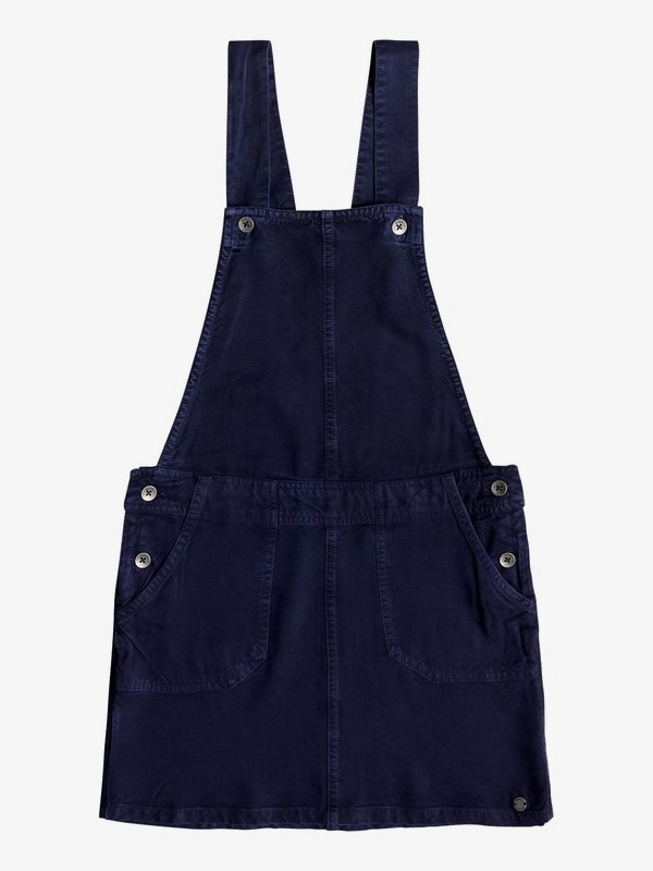 0 Girl's 7-14 Summers End Dungaree Dress Blue ERGWD03070 Roxy