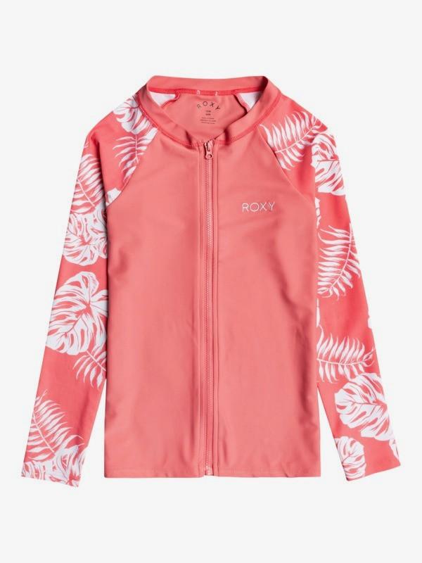 California Friends - Long Sleeve UPF 50 Zipped Rashguard for Girls 8-16  ERGWR03229