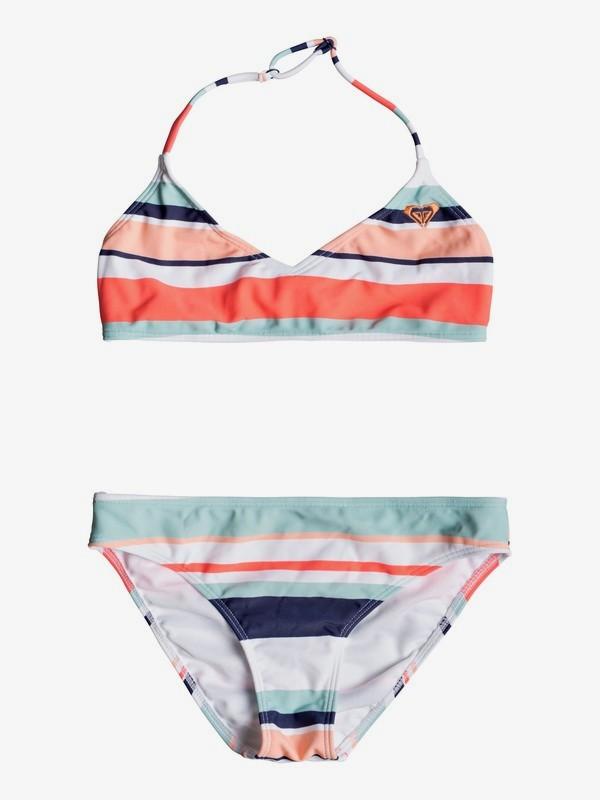 0 Happy Spring - Triangle-Bralette-Bikini-Set für Mädchen 8-16 Weiss ERGX203193 Roxy