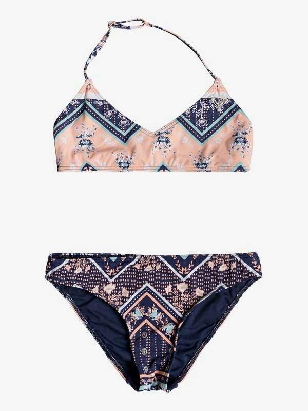 0 Heart In The Waves - Triangle-Bralette-Bikini-Set für Mädchen 8-16 Blau ERGX203198 Roxy