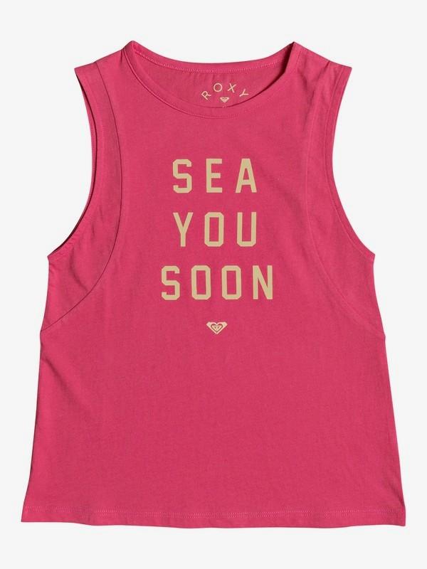 0 A Smooth Sea - Top Smanicato da Ragazza 8-16 Pink ERGZT03268 Roxy