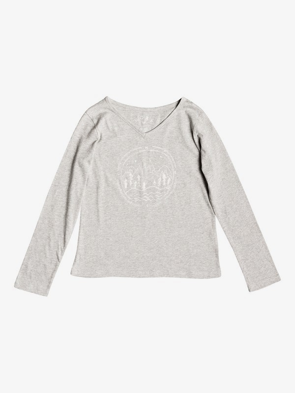 0 Say Something - T-shirt manches longues pour Fille 8-16 ans Gris ERGZT03331 Roxy