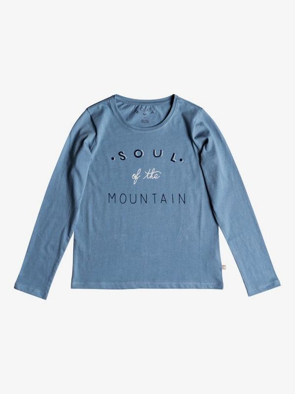0 Girl's 7-14 Gradual Awakening Soul Of The Mountain Long Sleeve Tee Blue ERGZT03345 Roxy