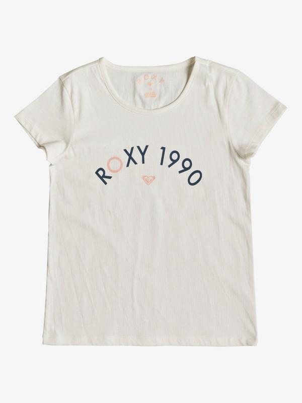 0 Roses In The Rain - T-Shirt voor Meisjes 8-16 White ERGZT03390 Roxy