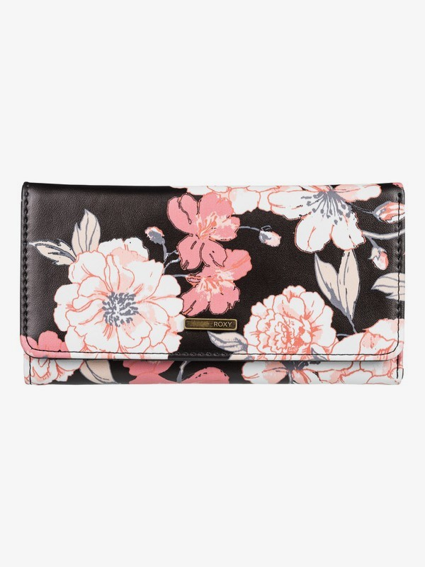 0 My Long Eyes Tri-Fold Wallet Black ERJAA03600 Roxy
