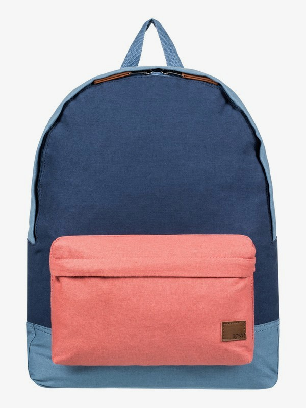0 Sugar Baby Canvas Colorblock 16L Small Backpack Blue ERJBP03694 Roxy