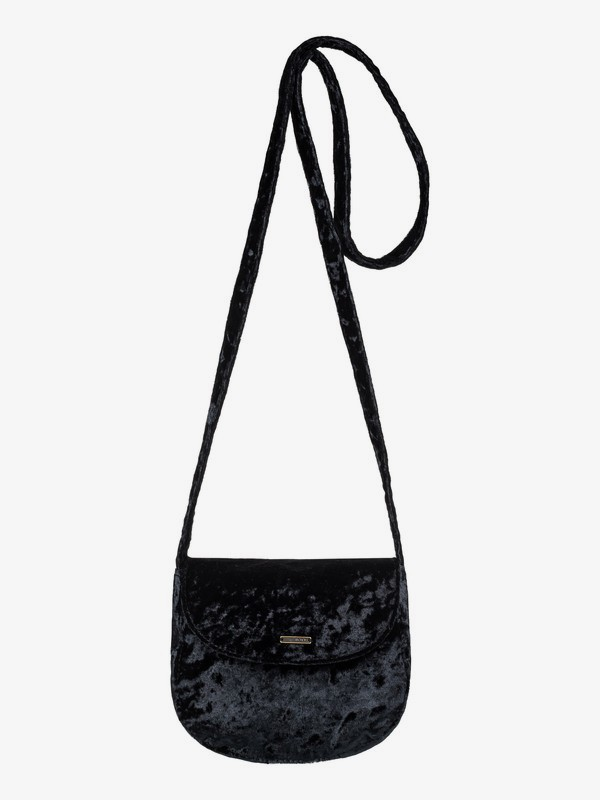 0 Like A Love Song Small Velvet Shoulder Bag Black ERJBP03794 Roxy