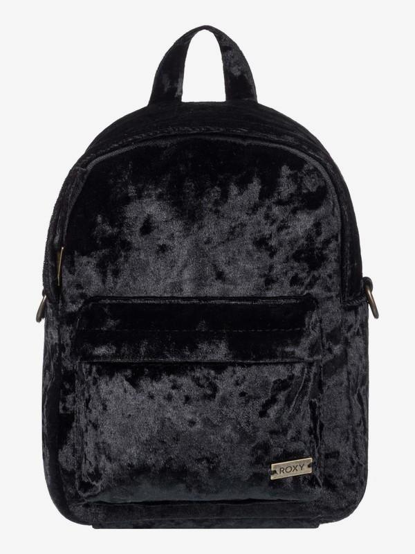 0 Walking Away Convertible Mini Velvet Backpack Black ERJBP03822 Roxy