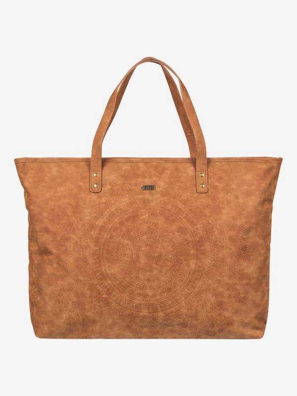 0 Set It On Fire Faux Leather Tote Bag Orange ERJBP03872 Roxy