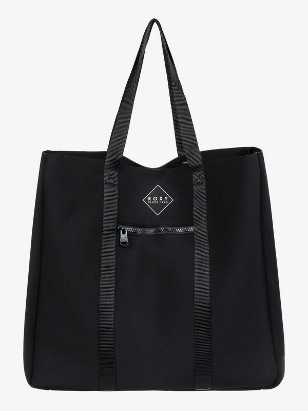 0 Lets Run Away 22L Large Tote Bag Black ERJBT03148 Roxy