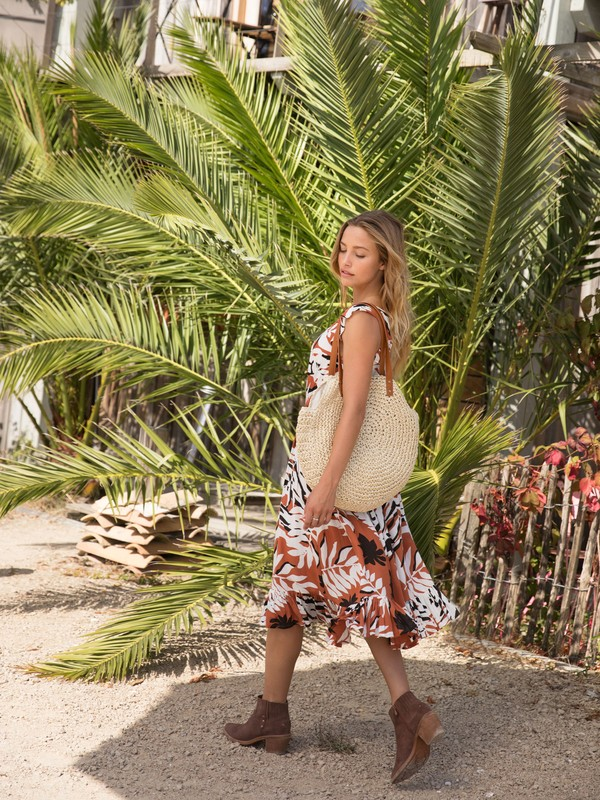 Only Good Vibes - Round Straw Beach Bag  ERJBT03181