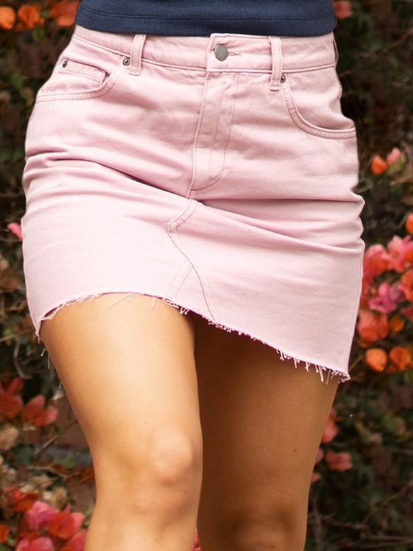 Kissing Romance Colour - Denim Skirt for Women  ERJDK03022