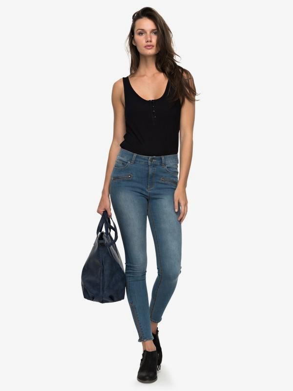 Night Spirit A - High Waisted Skinny Fit Jeans for Women  ERJDP03162