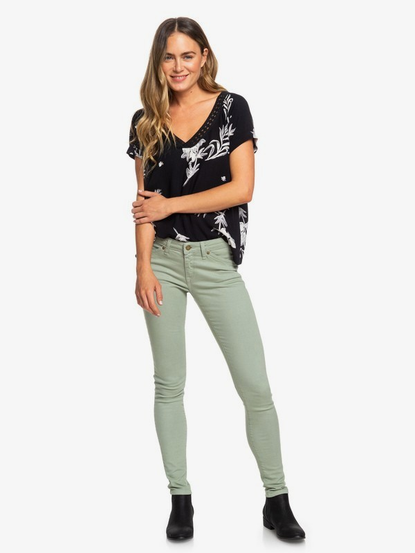 0 Stand By You - Skinny Fit Jeans for Women Green ERJDP03220 Roxy