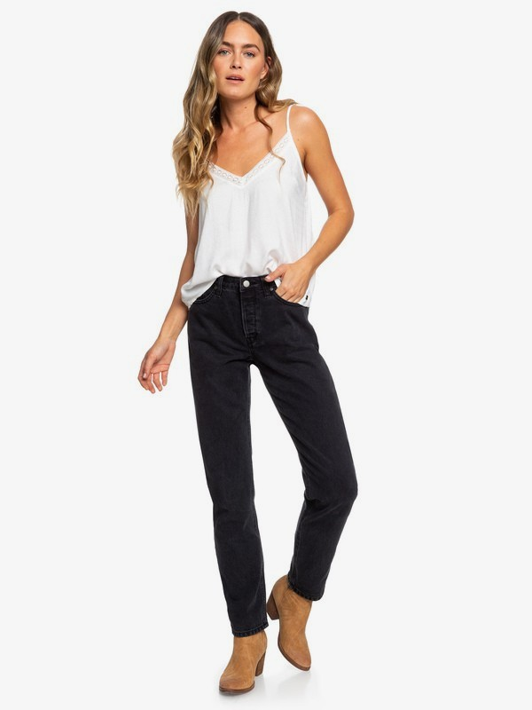 0 Every Second - Mom Fit Jeans for Women Black ERJDP03222 Roxy