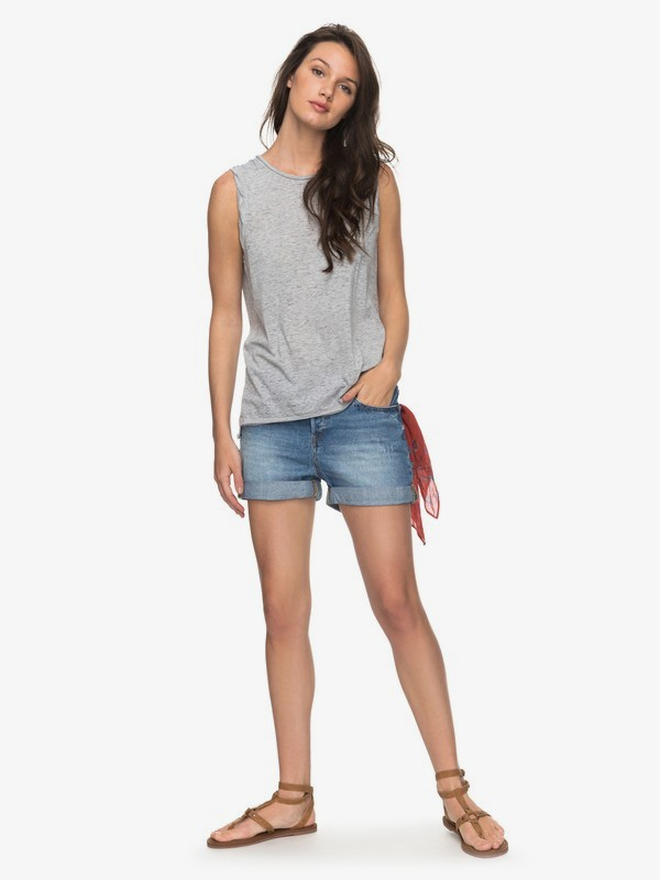 0 Green Turtle Cay - Denim-Shorts für Frauen Blau ERJDS03157 Roxy