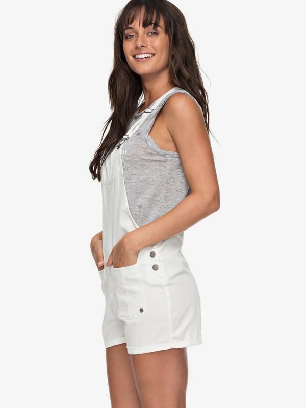 0 Back In Miami - Salopette short pour Femme Blanc ERJDS03162 Roxy