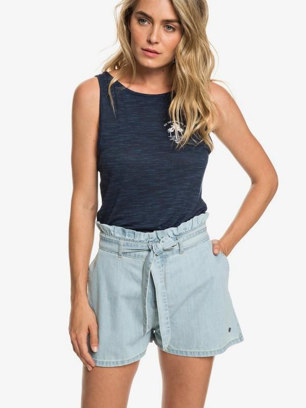 0 Realestate - High Waist Denim Shorts for Women  ERJDS03195 Roxy