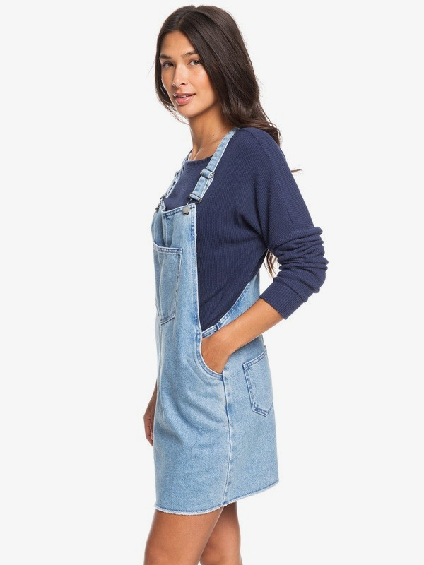 Early Evening - Denim Dungaree Dress  ERJDS03225