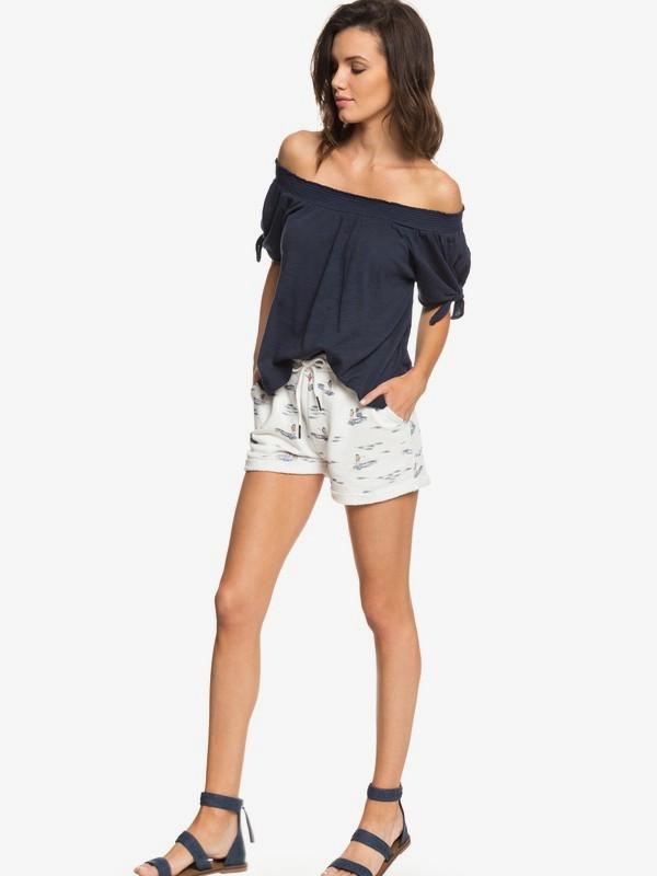 0 Trippin - Sweat Shorts for Women White ERJFB03163 Roxy