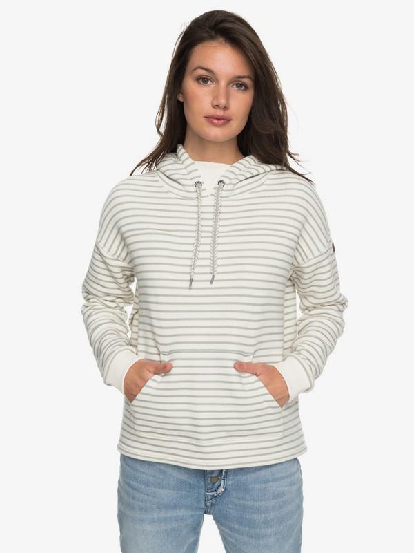 0 Greatest Glory Stripe - Sudadera con Capucha para Mujer Blanco ERJFT03682 Roxy