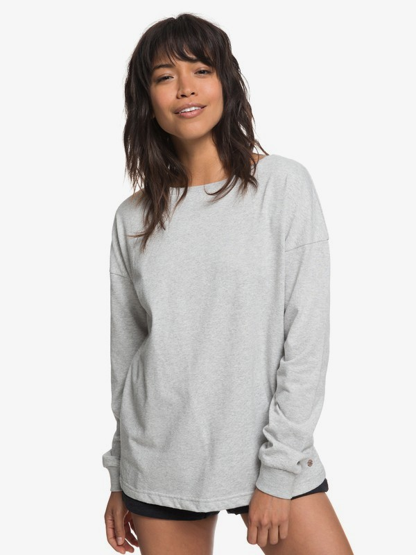 0 Journey On Wrap Sweatshirt Grey ERJFT03807 Roxy