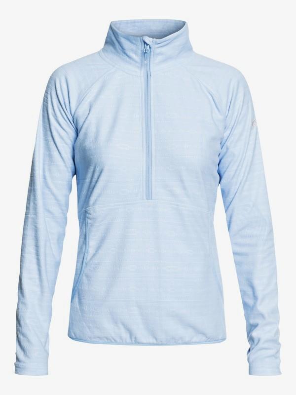0 Cascade - Funktions-Fleece mit Halbreißverschluss für Frauen Blau ERJFT03855 Roxy