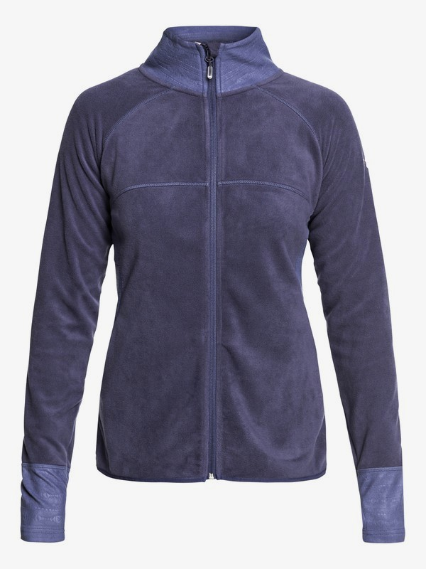 0 Harmony Technical Zip-Up Fleece Blue ERJFT03857 Roxy