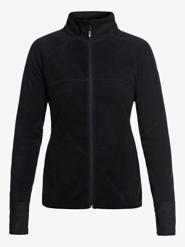 0 Harmony Technical Zip-Up Fleece Black ERJFT03857 Roxy