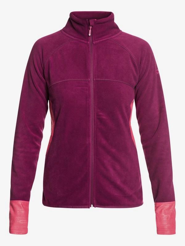 0 Harmony Technical Zip-Up Fleece Red ERJFT03857 Roxy