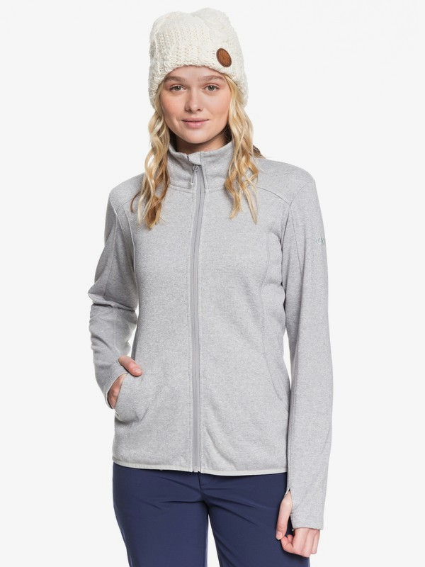 Harmony Shimmer - Zip-Up Mock Neck Fleece for Women  ERJFT03962