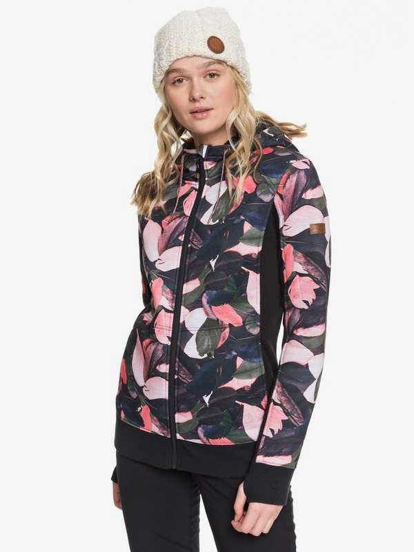 0 Frost - Technical Zip-Up Hoodie for Women Pink ERJFT03969 Roxy
