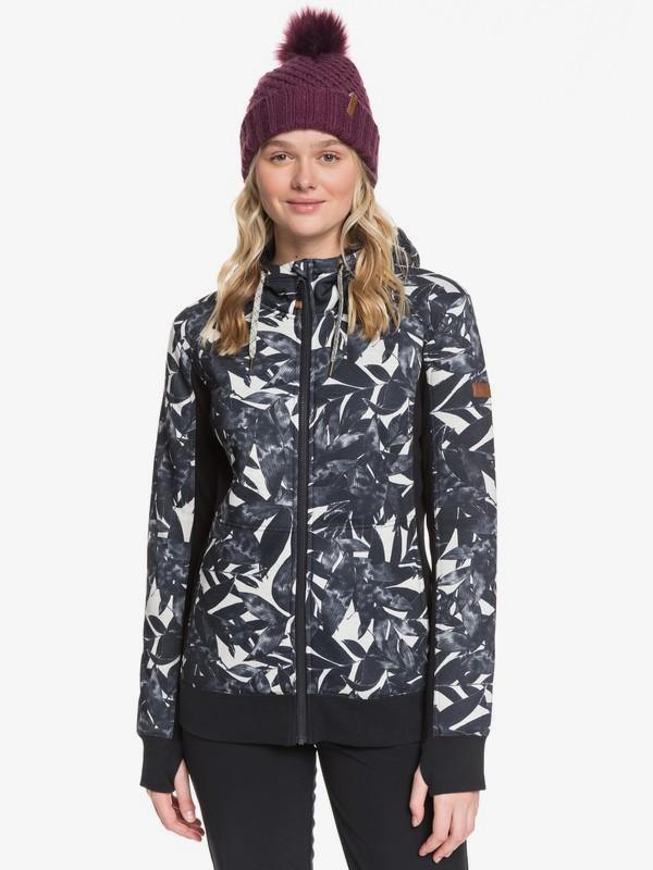 0 Frost - Technical Zip-Up Hoodie for Women Beige ERJFT03969 Roxy