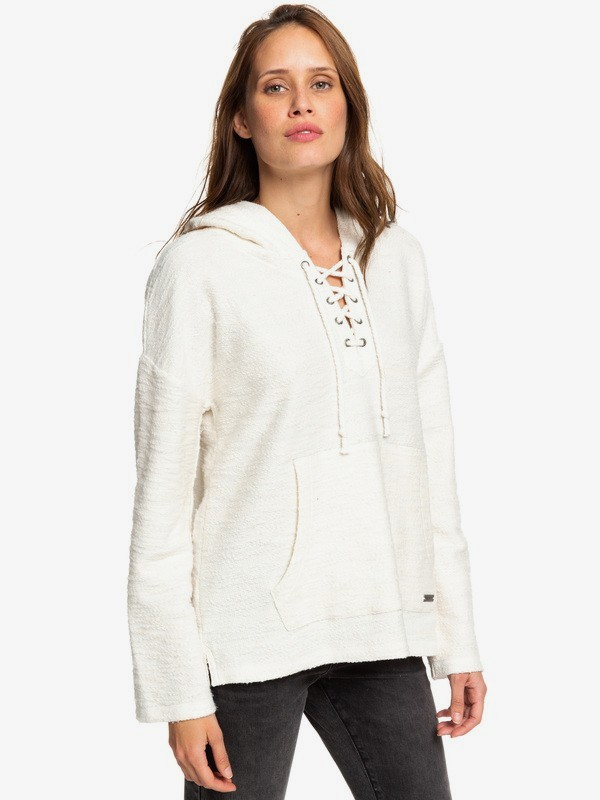 0 Would You Believe - Poncho Hoodie for Women Blanco ERJFT04017 Roxy