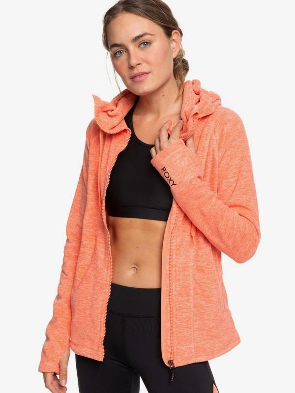 Electric Feeling - Hooded Zip-Up Fleece for Women ERJFT04057